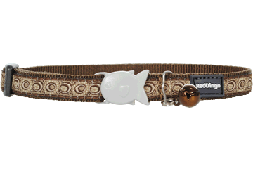 Red Dingo Cat Collar Cosmos Brown CC-CO-BR