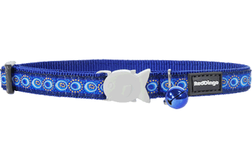 Red Dingo Cat Collar Cosmos Dark Blue CC-CO-DB