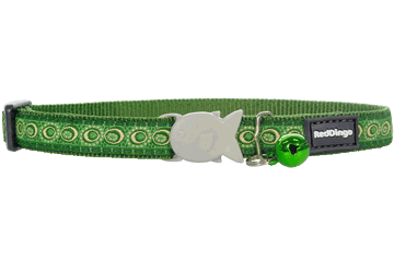 Red Dingo Cat Collar Cosmos Verde CC-CO-GR