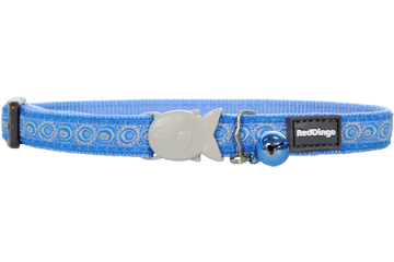 Red Dingo Cat Collar Cosmos Medium Blue CC-CO-MB
