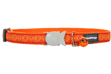 Red Dingo Cat Collar Cosmos Orange CC-CO-OR