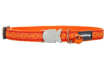 Red Dingo Cat Collar Cosmos Orange CC-CO-OR