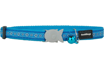 Red Dingo Cat Collar Daisy Chain Turquoise CC-DC-TQ