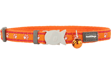 Red Dingo Cat Collar Desert Paws Orange CC-DP-OR