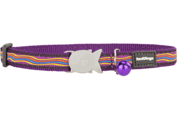 Red Dingo Cat Collar Dreamstream Viola CC-DS-PU