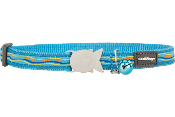 Red Dingo Cat Collar Dreamstream Turquoise CC-DS-TQ
