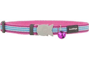Red Dingo Cat Collar Fang It fel-roze CC-FG-HP
