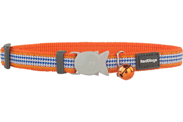 Red Dingo Cat Collar Fang It Orange CC-FG-OR