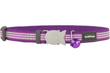 Red Dingo Cat Collar Fang It Viola CC-FG-PU