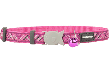 Red Dingo Cat Collar Flanno fel-roze CC-FN-HP