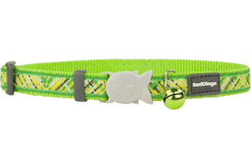 Red Dingo Collare Gatto Flanno Lime Green CC-FN-LG
