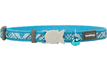 Red Dingo Cat Collar Flanno Turquoise CC-FN-TQ