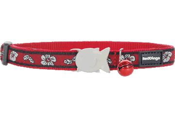 Red Dingo Cat Collar Hibiscus Red CC-HI-RE