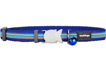 Red Dingo Cat Collar Horizontal Stripes Dark Blue CC-HO-DB