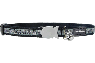 Red Dingo Cat Collar Hypno Nero CC-HY-BB