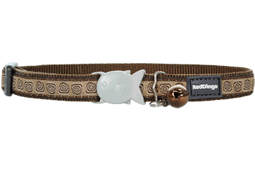 Red Dingo Cat Collar Hypno Brown CC-HY-BR