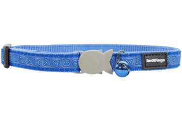 Red Dingo Cat Collar Hypno Medium Blue CC-HY-MB
