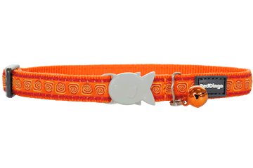 Red Dingo Cat Collar Hypno Arancione CC-HY-OR