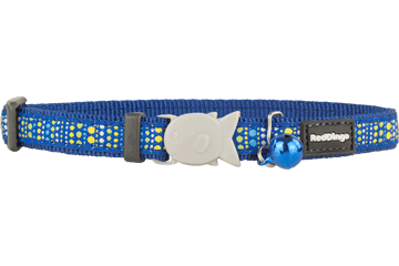 Red Dingo Cat Collar Lotzadotz donkerblauw CC-LD-DB