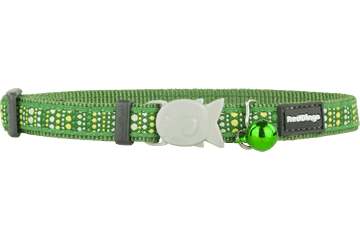 Red Dingo Cat Collar Lotzadotz groen CC-LD-GR
