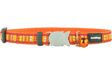 Red Dingo Cat Collar Lotzadotz Orange CC-LD-OR