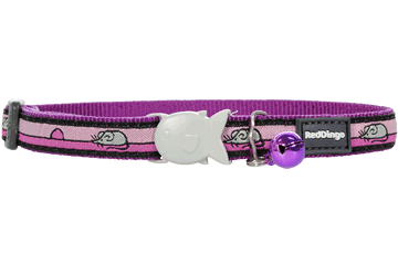 Red Dingo Cat Collar Mouse Purple CC-MO-PU
