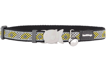 Red Dingo Cat Collar Monty Black CC-MY-BB