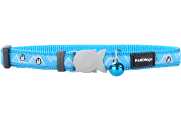 Red Dingo Cat Collar Penguin Turquoise CC-PE-TQ