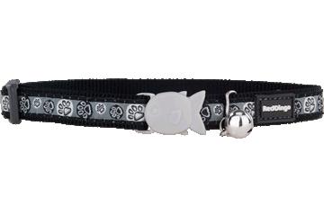 Red Dingo Cat Collar Paw Impressions Black CC-PI-BB