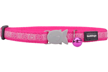 Red Dingo Cat Collar Paw Impressions fel-roze CC-PI-HP