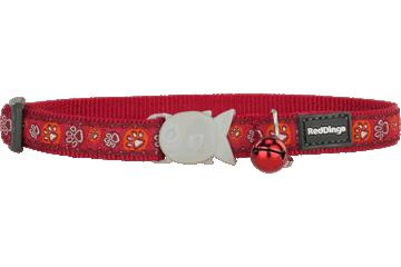Red Dingo Cat Collar Paw Impressions Red CC-PI-RE