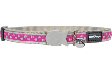 Red Dingo Cat Collar Pussy Prints Pink CC-PU-PK