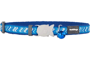 Red Dingo Cat Collar Pizzazz Dark Blue CC-PZ-DB