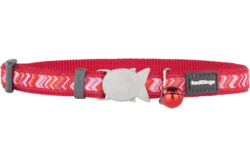 Red Dingo Cat Collar Pizzazz Red CC-PZ-RE