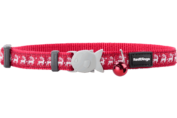 Red Dingo Cat Collar Reindeer Rosso CC-RD-RE
