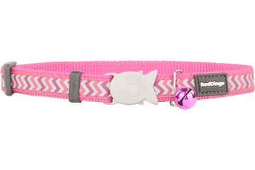 Red Dingo Cat Collar Reflective Ziggy Hot Pink CC-RZ-HP