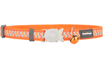 Red Dingo Cat Collar Reflective Ziggy Orange CC-RZ-OR