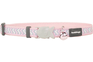 Red Dingo Cat Collar Reflective Ziggy Pink CC-RZ-PK