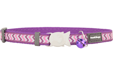 Red Dingo Cat Collar Reflective Ziggy Purple CC-RZ-PU