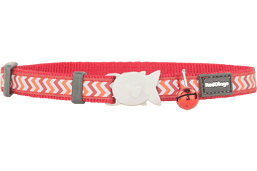 Red Dingo Cat Collar Reflective Ziggy Red CC-RZ-RE