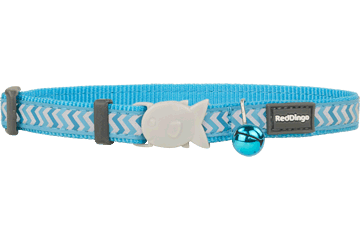 Red Dingo Cat Collar Reflective Ziggy Turquoise CC-RZ-TQ