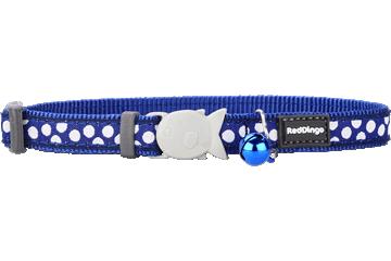 Red Dingo Cat Collar White Spots Dark Blue CC-S5-DB