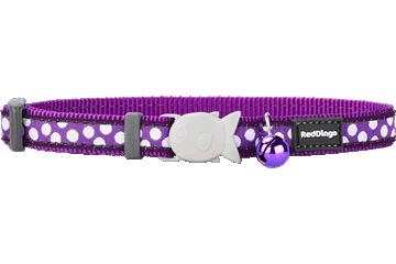Red Dingo Cat Collar White Spots Purple CC-S5-PU