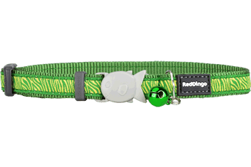 Red Dingo Cat Collar Safari Verde CC-SA-GR