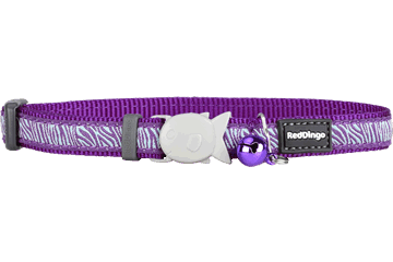 Red Dingo Cat Collar Safari Purple CC-SA-PU