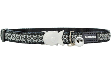 Red Dingo Cat Collar Snake Eyes Black CC-SE-BB