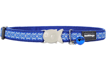 Red Dingo Cat Collar Snake Eyes Dark Blue CC-SE-DB
