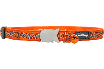 Red Dingo Cat Collar Snake Eyes Orange CC-SE-OR