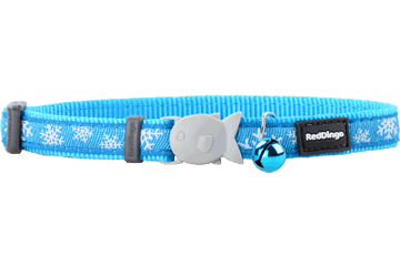 Red Dingo Cat Collar Snow Flake Turquoise CC-SF-TQ
