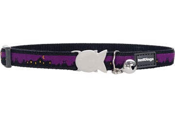 Red Dingo Cat Collar Skyline Black CC-SL-BB